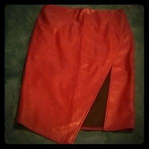 Gianni Bini Pleather Pencil Skirt